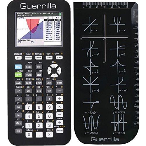 Guerrilla Silicone Case Texas Instruments TI-84 Plus CE Edition Calculator and Ruler,