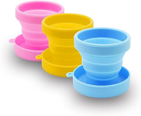 SPEQUIX 3pcs Silicona Plegable Vasos Vasos de Camping para ...