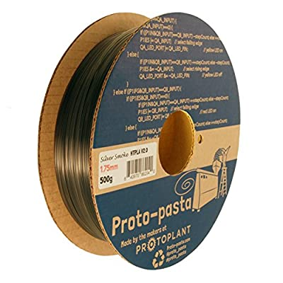 Proto-pasta HTP21705-SMK Translucent Silver Smoke HTPLA, 1.75mm 500g