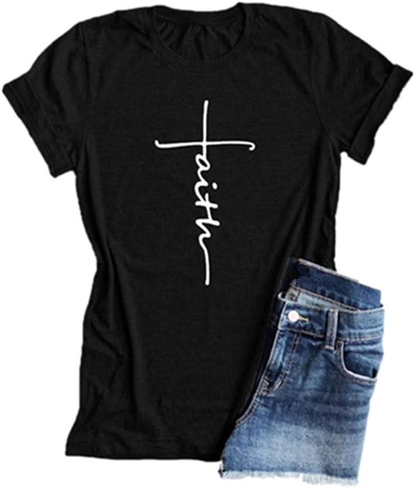 Crhristian Faith Shirt Church Shirt Faith Cross Women/'s T-Shirt Purple