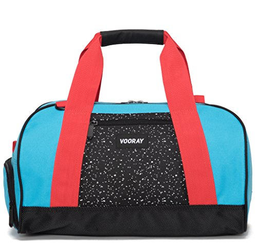 vooray-burner-16-compact-gym-bag-with-shoe-pocket-turquoise-red
