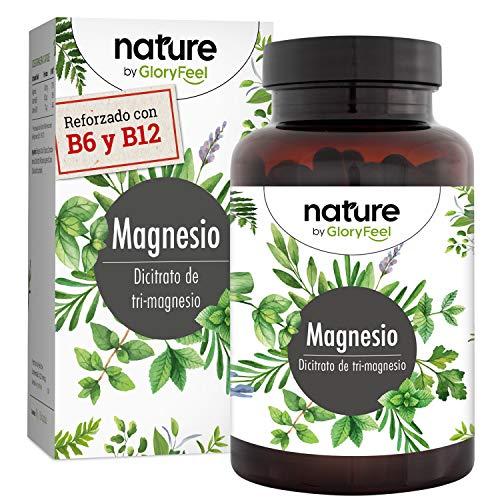 🥇 Citrato de Magnesio Premium 2580mg Alta dosificación – 400mg de Magnesio puro elemental + vitamina B12 y B6 por dosis diaria- 180 cápsulas veganas sin aditivos- Fabricado en Alemania