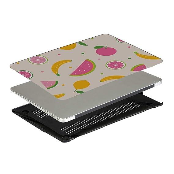 MacBook Air Laptop Case Summer Fruit Grapefruit Green Leaf Plastic Hard Shell Compatible Mac Air 11 Pro 13 15 MacBook 2018 Case Protection for MacBook 2016-2019 Version