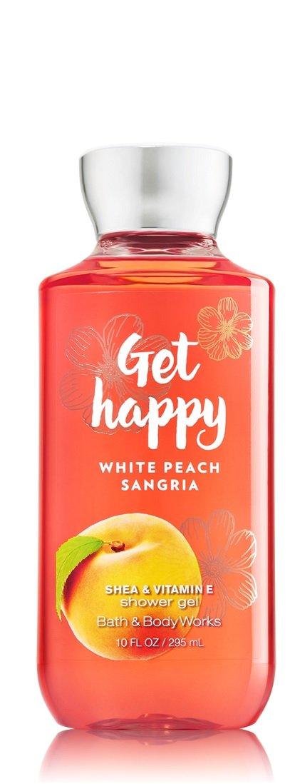 Bath Body Works Signature Collection Get Happy – White Peach Sangria Shower Gel Fine Fragrance Mist Body Lotion Trio Gift Set