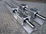 2x SBR20-1500mm 20mm Fully Supported Linear Rail + 4 SBR20UU BlockbEARING