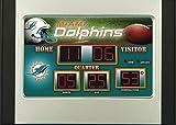 Team Sports America Miami Dolphins Scoreboard Desk Alarm Clock