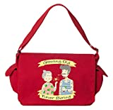 Tenacitee Growing Old Never Boring Couple Red Brushed Canvas Messenger Bag