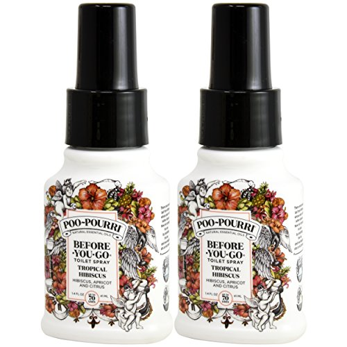 Poo-Pourri, Before-You-Go Bathroom Spray, Tropical Hibiscus - 1.4 oz, 2 Pack by Poo-Pourri