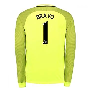 38e6c6382a9 2016-17 Man City Home Goalkeeper Shirt (Bravo 1) - Kids