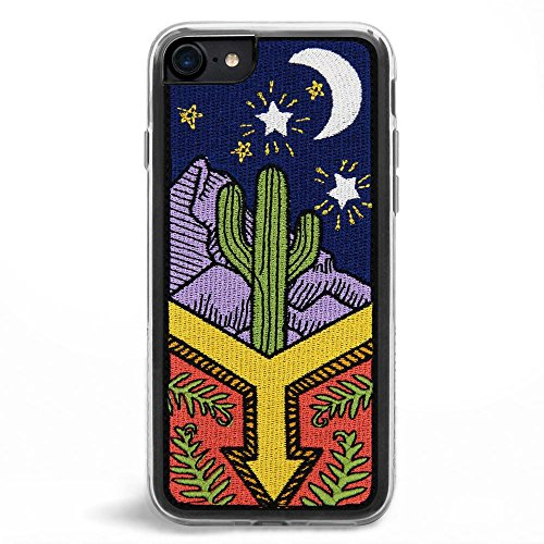 Embroidered Phone Case (Zero Gravity Apple iPhone 7/8 Awaken Phone Case - Embroidered Desert Night Scene - 360° Protection, Drop Test Approved)