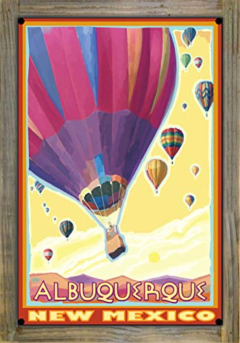 Northwest Art Mall Albuquerque New Mexico Hot Air Balloons Metal Print on Reclaimed Barn Wood by Joanne Kollman (12