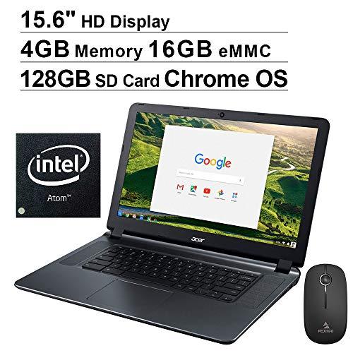 🥇 Newest Acer Chromebook 15 15.6 Inch Laptop for Business Student| Intel Atom x5 E8000| 4GB RAM| 16GB eMMC| WiFi| Bluetooth| HDMI| Chrome OS + NexiGo 128GB MicroSD Bundle