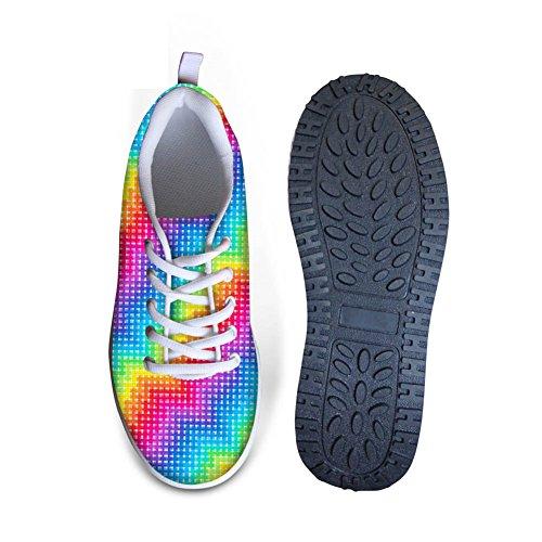 Pour U Conçoit Élégant Graffiti Motif Femmes Wedges Plate-forme De Marche Chaussures Colorées B1