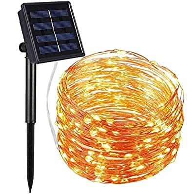 Nittelights Solar String Lights, 72ft 200LED Outdoor String Lights, 8 Modes Waterproof Decorative Fairy String Lights for Patio, Lawn, Garden, Party, Wedding, Christmas (Warm White)