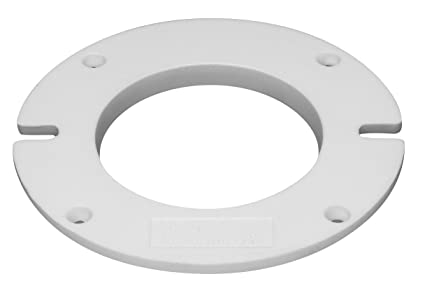 Oatey 43646 Closet Flange Spacer, 1/2 In T, Pvc, White
