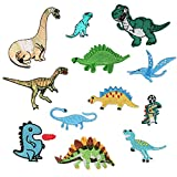 12pcs Dinosaur Patch Animal Appliques for Clothing Iron on Or Sew on Embroidered Patches Motif Applique