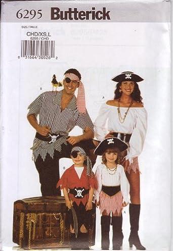 Amazon.com Butterick Sewing Pattern 6295 Childrenu0027s/Girlu0027s/Boyu0027s Pirate Costumes Butterick Books & Amazon.com: Butterick Sewing Pattern 6295 Childrenu0027s/Girlu0027s/Boyu0027s ...