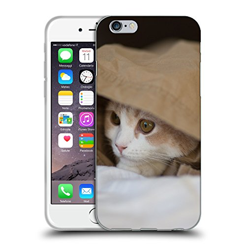 Just Phone Cases Coque de Protection TPU Silicone Case pour // V00004271 Chaton cache et Observe // Apple iPhone 6 4.7""