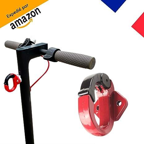 MagicBike®] Xiaomi M365 Gancho para Bolsa de Aluminio Negro y Rojo Gancho para Kit de Montaje - No corrosivo