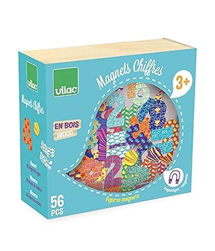 Vilac - Números y símbolos de Madera imantados (56 Piezas): Amazon ...