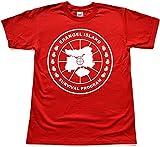 Teamzad Erangel Island Survival Program Funny Red T Shirt Extra Large