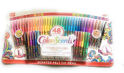 Scentos Color Scents 48 Felt Tip Pens- Multi-Scent Collection (1)