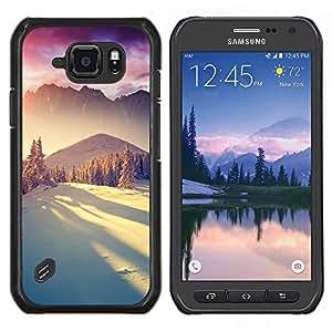 """Be-Star Único Patrón Plástico Duro Fundas Cover Cubre Hard Case Cover Para Samsung Galaxy S6 active / SM-G890 (NOT S6) ( Montañas de la nieve de invierno la luz del sol"""" )"""