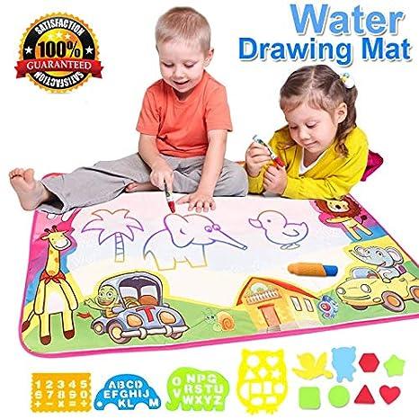 Amazon.com: 8657CM Magic Water Drawing Mat Doodle Water Pen Drawing ...