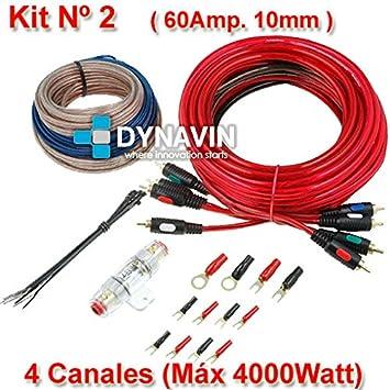 KIT 2 - Kit de instalación, juego de cables para instalar amplificadores de sonido y etapas de potencia: Amazon.es: Electrónica