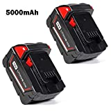 Keepower M18 Replacement Pack for Milwaukee 18V 5.0Ah M18 Battery M18B 48-11-1820 48-11-1850 48-11-1828 48-11-1815 Cordless Power Tools 2Packs