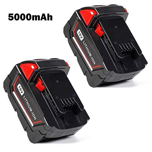 Keepower M18 Replacement Pack for Milwaukee 18V 5.0Ah M18 Battery M18B 48-11-1820 48-11-1850 48-11-1828 48-11-1815 Cordless Power Tools 2Packs by Keepower