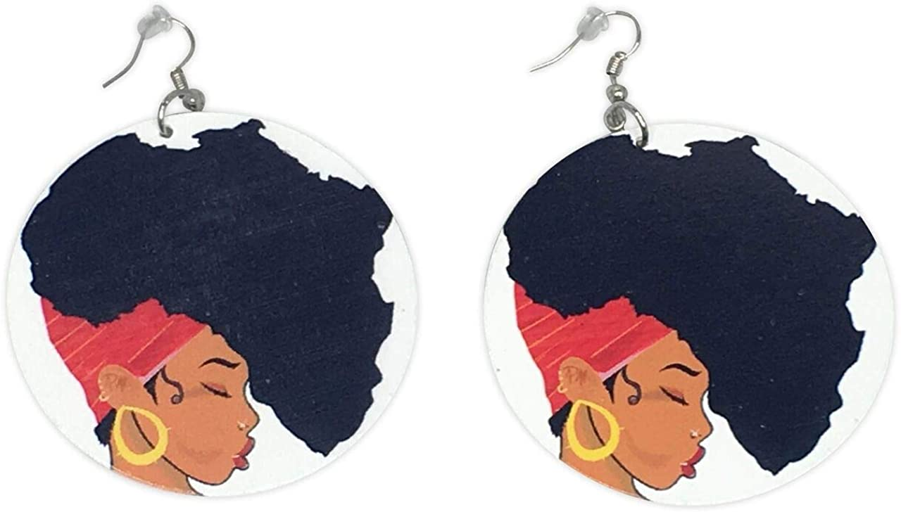 MAMA AFRICA EARRINGS | AFRICA SHAPED | NATURAL HAIR | AFROCENTRIC | JEWELRY | ACCESSORIES | AFRICAN