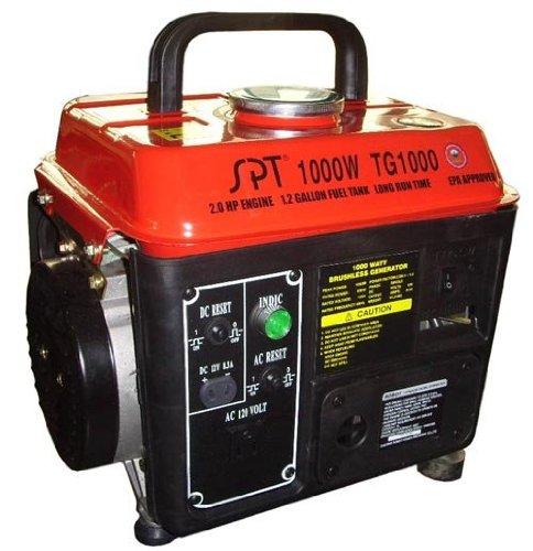 1000W 2.0 HP 1.2 Gal Gasoline Generator w 2 Cycle Gas/Oil - Hp Gasoline Generator 2
