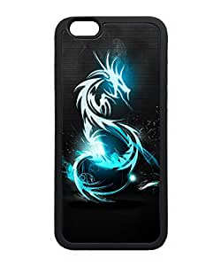 VUTTOO Iphone 6 Case, Dark Blue Dragon Slim Case for Apple iPhone 6 4.7 Inch TPU Bumper Black