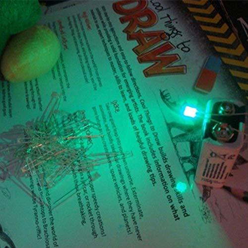 Laliva 100pcs Rectangular LED Diodes Rectangle 2x3x4mm Diodi LED Rettangolari Diode Square 234 LEDs Clear Jade Green LED Lamp Diodo - Jade Green Led