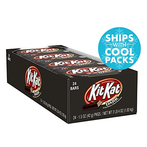 KIT KAT Dark Chocolate Candy Bar, Halloween Candy, 1.5 Ounce (Pack of 24) -