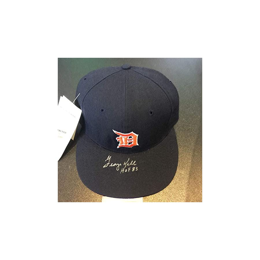 "George Kell""HOF 1983"" Signed Game Model Detroit Tigers Hat COA PSA/DNA Certified Autographed Hats"