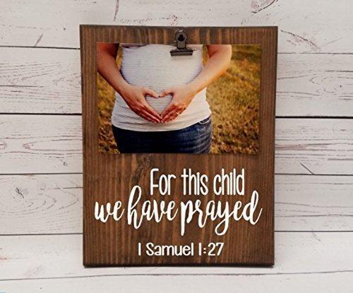 Amazon.com: For this child, we have prayed, 1 Samuel 1:27 Photo ...