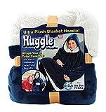 Ontel Huggle Hoodie | Hooded Robe, Spa, Bathrobe, Sweatshirt, Fleece, Pullover, Blanket, Mens, Womens | As Seen on TV (Blue)