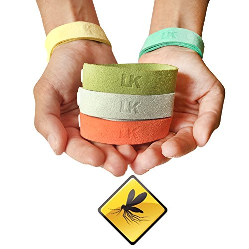 Best All Natural Mosquito Repellent Bracelet. Microfiber Travel Insect with DEET FREE Citronella Oil For Camping Hiking Outdoor Activities. 5 Pack Adjustable Strap For Kids & Adults by LauKati