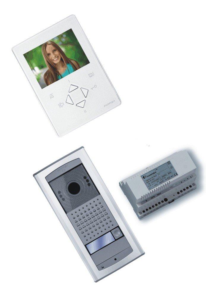 1/pi/èce Farfisa Maison individuelle Interphone vid/éo 2/Fils Bus C/âblage zh1252ag Lev