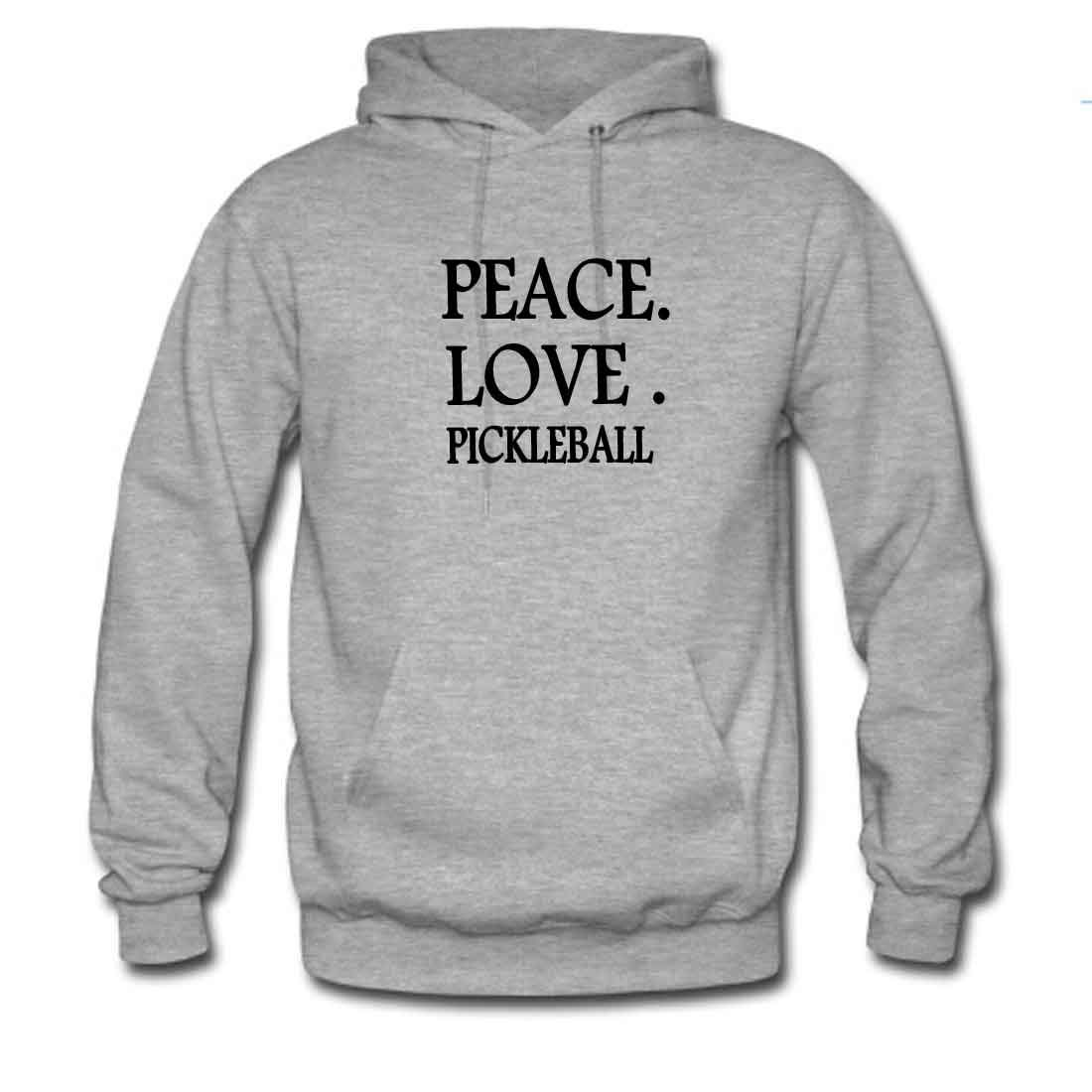 Mens Classic Pullover Hoodie Sweatshirt,Peace Love Pickleball Print