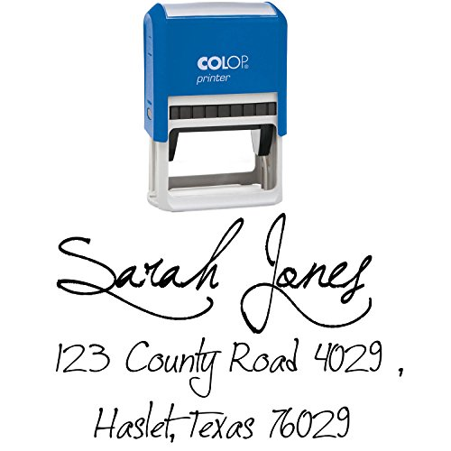 Self Inking Custom Return Address Stamp Hand Calligraphy Family Address Invitation Colop Stamper (Stamp Hand Custom)