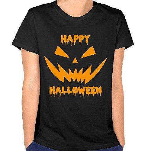 Lichang Happy Halloween Scary Pumpkin Face Women' Casual Tshirts Short Sleeve Tees -