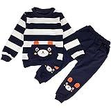 JOYEBUY Baby Boy Girl 2pcs Cartoon Bear Clothing Sets Top and Pants Fall Clothes (2T, Blue)