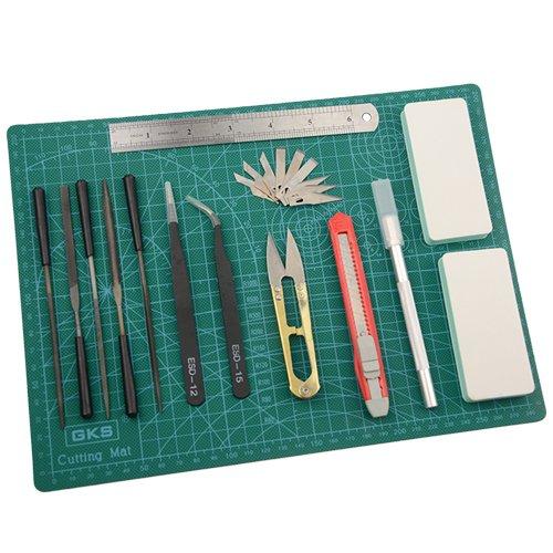 BXQINLENX 15 PCS Gundam Modeler Basic Tools Craft Set For Car Model Assemble Building(F)