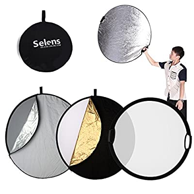 Selens 5-in-1 Reflector with Handle for Photography Photo Studio Lighting & Outdoor Lighting by HengMing