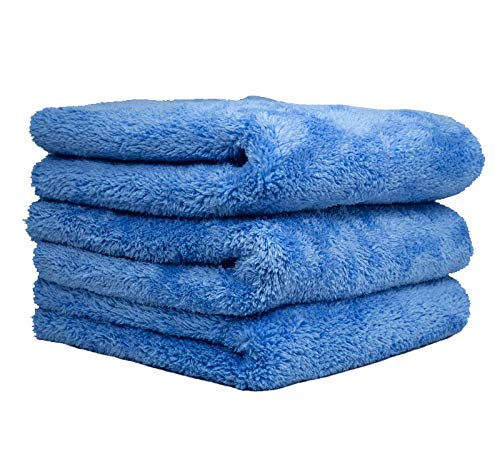 THE RAG COMPANY (3-Pack) 16 in. x 24 in. EAGLE EDGELESS 500 Professional Korean 70/30 Super Plush 500gsm Microfiber Detailing Towels