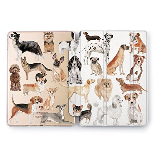 Wonder Wild Animal Pattern New iPad Case 9.7 inch Mini 1 2 3 4 Air 2 10.5 12.9 2018 2017 Dogs Design Cover Print Pets 5th 6th Generation Boxer Labrador ()