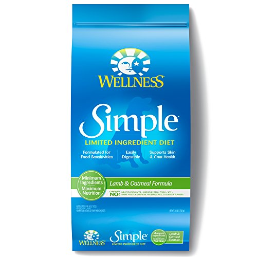 Wellness Simple Natural Dry Limited Ingredient Dog Food, Lamb & Oatmeal, 26-Pound Bag